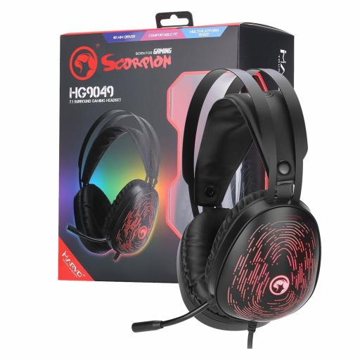 Marvo Scorpion HG9049 7.1 Virtual Surround Sound 7 Colour LED Gaming Headset - Xbox One & PS4 Compatible