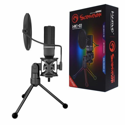 Marvo Scorpion MIC-03 Omnidirectional Streaming Microphone