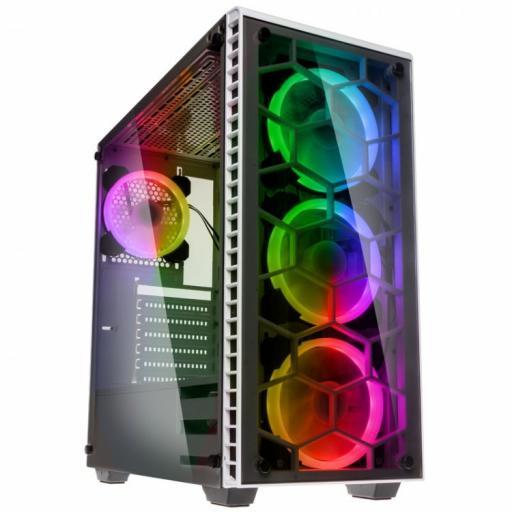 KOLINK OBSERVATORY RGB - WHITE TEMPERED GLASS WINDOW