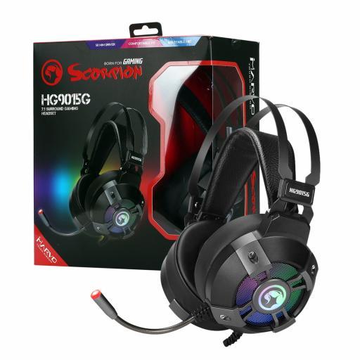 Marvo Scorpion HG9015G 7.1 Virtual Surround Sound RGB LED Gaming Headset